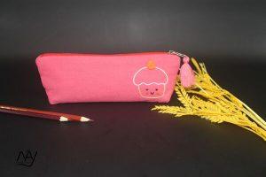 túi vải handmade hình cupcake màu hồng 1