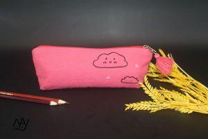 túi vải handmade hình đám mây màu hồng 1
