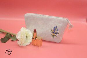 túi vải handmade hình hoa dại tím 1