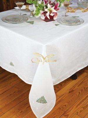 khăn trải bàn thêu tay họa tiết cây thông noel 6