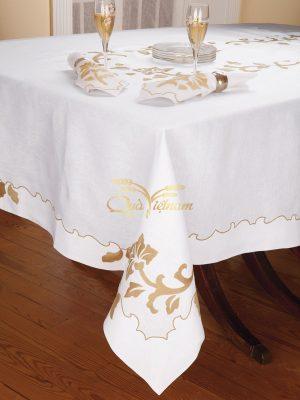 khăn trải bàn thêu tay họa tiết hoàng gia 1